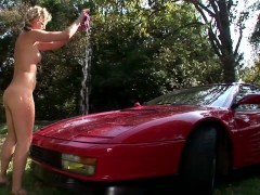 Getting a full wax and wash - DDF Productions