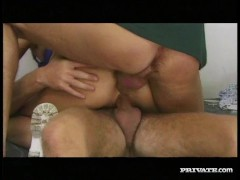DP Threesome with Amazing Blonde Edwige