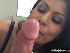 MexiMILF Gabby Quinteros Gives A Hard Cock POV BJ