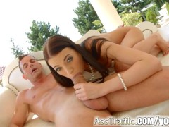 Asstraffic bubble butt anal fucking with Leyla Peachbloom