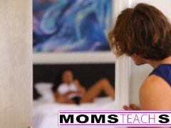 Mom seduces son in hard fast fuck lessons