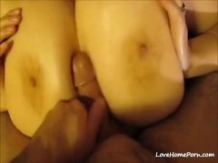 My wife has the perfect tits for titty fucking