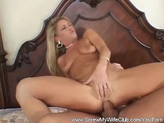 Anal DP Threesome For Blonde MILF