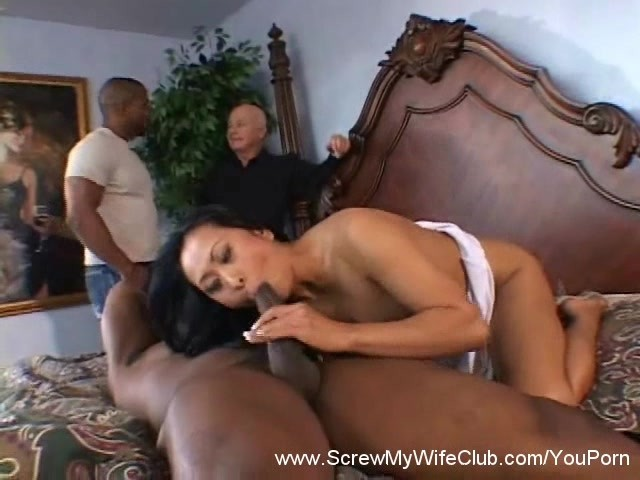 Wifes first black cock with friend