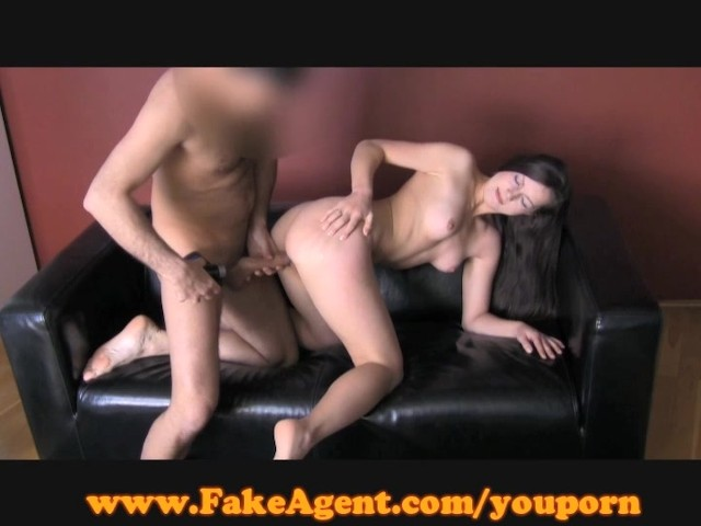 image Fakeagent cute brunette beauty plays hard to get in casting interview