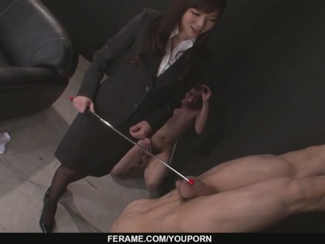 image Megumi shino rewards two male slaves with blo