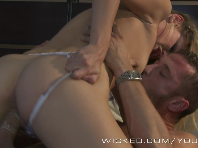 Wicked couple breaks in the new bed 5