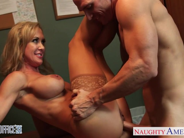 Stockinged office babe brandi love gets nailed 9
