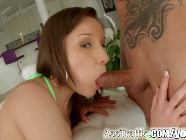 Asstraffic brunette doggystyle anal on the so 3