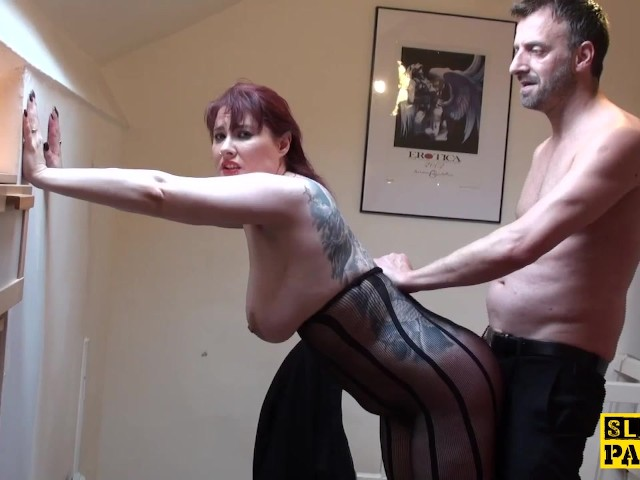 Femdom male slave whippings