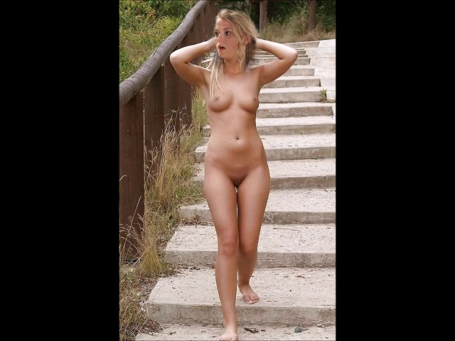 Naked public sex orgy threesome with a pretty girl and 2 guy 2
