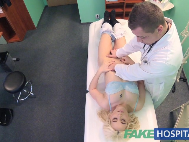 image Fake hospital squirting milf wants breast implants and gets a creampie