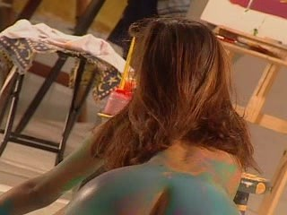 hot-chick-playing-with-paint