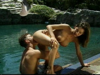 Hot sex at the cool pool...