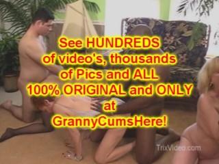 3 GRANNIES get PUMPED and eat CUM