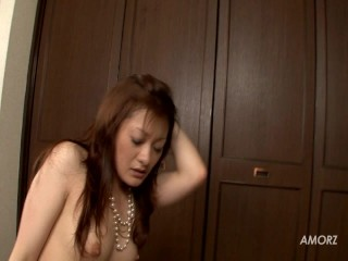 She s wearing a pearl necklace but creampie pompie
