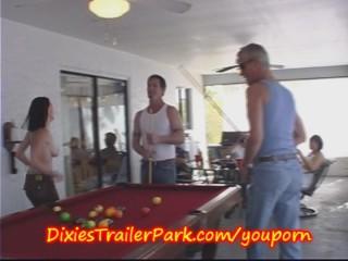 Trailer trash pool shooting with milf and...