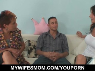 Lusty grandma seduces hubby of her daughter...