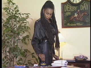 Black biker chick demands her office...