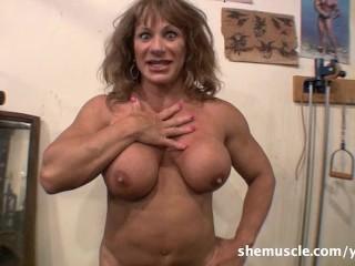 Wild kat shemuscle crazy gym