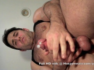 Cumming Hairy Thick muscle cock!...