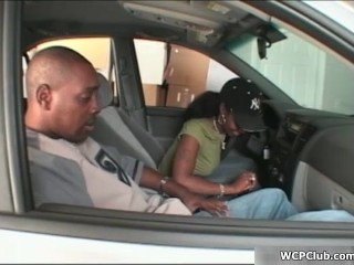 Hot ebony babe gets her horny cunt