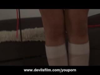 Kinky teen schoolgirl squirting...