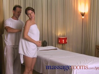 Massage rooms warm oil foreplay ends