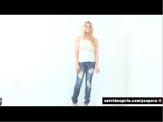 Blonde calendar model...