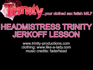 Busty Mistress clothed sex strapon jerkoff instruction JOI...