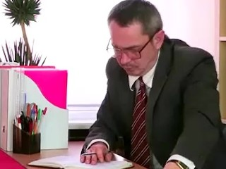 Cute with shaved pussy gets seduced by teacher in his office...