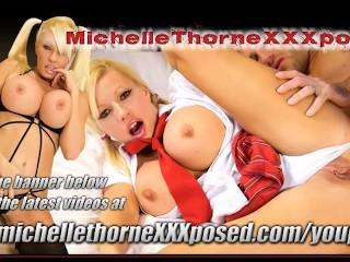 Office slut Michelle Thorne spit roasted threesome...