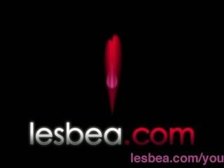 Lesbea Busty tongue sucking amateur finger fucked by slender lesbian...