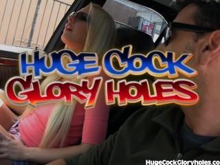 Slutty Blonde Loves Gloryhole Cocksucking...