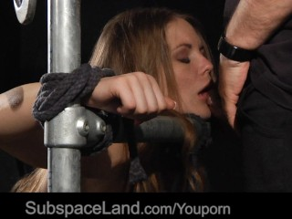 Blondy first submissive experience BDSM