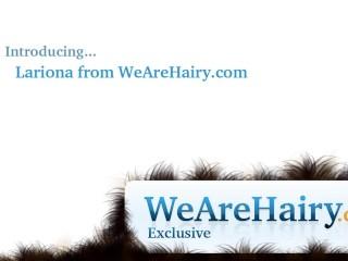 Hairy blonde lariona enjoys a juicy...
