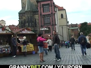 Granny tourist is for cock sucking and riding...