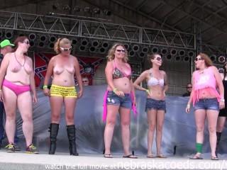 Biker wet tshirt contest in iowa...