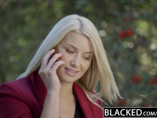 Blacked business ass fucked by a bbc