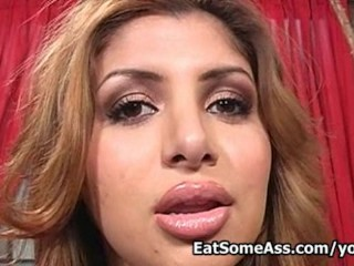 Sweet latina porn girl enjoys eating ass for mouth