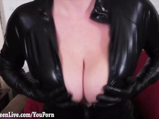 big-titty-catwoman-maggie-green-gets-off.