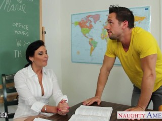 Chesty teacher take cock in classroom...