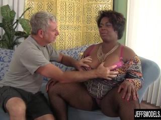 Black horny bbw marlise morgan enjoying cock...