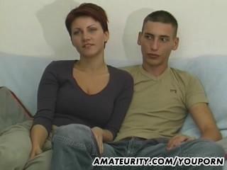 Young amateur couple fisrt blowjob...