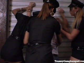Dude Gets Busted By Tranny Police Squad...