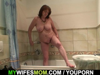 Busty rides his cock after shower