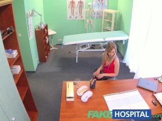 Fakehospital slim blonde uses talented tongue to get...