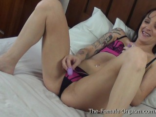 Biker Babe Masturbation With Real Orgasmic Contractions...