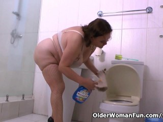This is why granny Gloria loves cleaning the house