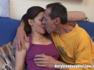 My Stepdad Cock Inside My Tight Wet Pussy...